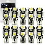 Safego T10 LED Ampoules de voiture lampe 194 168 2825 W5W 5 SMD 5050 WEDGE...