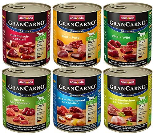 Animonda Gran Carno adult Hundefutter, Nassfutter für erwachsene Hunde, Mix 2,  6 x 800 g