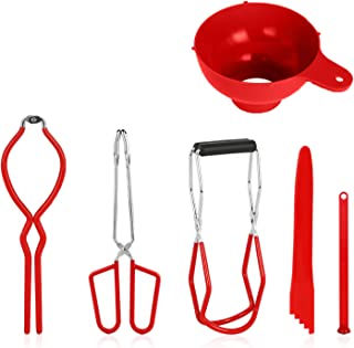 Canning Kit Canning Tools Canning Set Canning Supplies Include Canning Funnel, Jar Lifter, Jar Wrench, Lid Lifter, Canning...