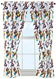 Disney Junior Mickey Mouse and The Roadster Racers 63' Drapes/Curtain 4-Piece Set (2 Panels, 2 Tiebacks)