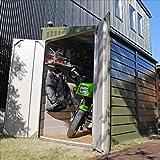 ガーデナップ メタルシェッド TM2 ペントルーフ D60TM2OG 『自転車・バイクの盗難対策に バイクガレージ』 オリーブグリーン