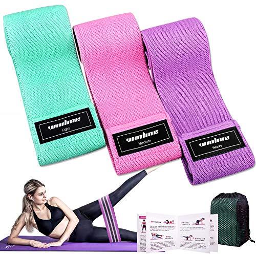 Winline Bande Elastiche di Resistenza, Set Fasce Elastiche Fitness in Tessuto con 3 Livelli di...