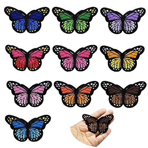 Juland, toppe ricamate a forma di farfalla nera, da applicare con il ferro da stiro, per uomini,...