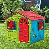 Palm Casetta per Bambini Casa Gioco per Bambini Esterno casetta per Bambini da Interno Giardino Casetta da Gioco Tradizionale Grande 102X90X109h
