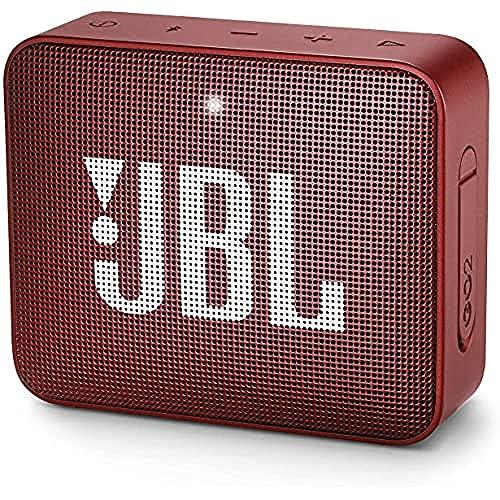 JBL GO 2 - Mini Enceinte Bluetooth portable - Étanche pour piscine & plage IPX7 - Autonomie 5hrs - Qualité audio JBL - Rouge