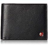 RFID SAFE Alpine Swiss Mens Deluxe Wallet Genuine Leather 14 Pocket ID Bifold black