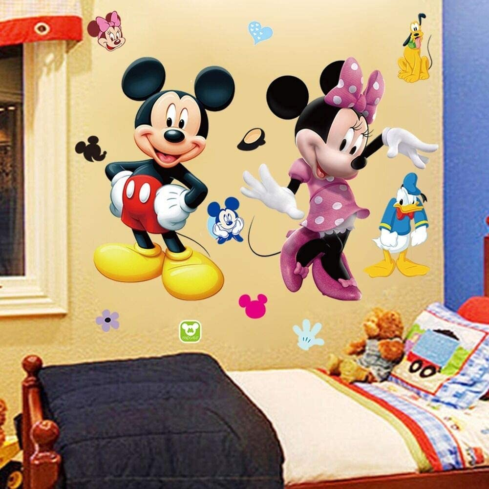 Buy Mickey Minnie Mouse Kids Room Decor Wall Sticker Cartoon Mural Decal Home 1pc Online In Indonesia B018eodfhs