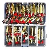 Fishing Lures Spoon Bait 35Pcs Set Metal Lure Kit Artificias Lure Hard Bait FreshWater With Treble Hooks Tackle Salmon Bass