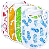 Baby Bib Large Toddler Burpy Absorbent Feeding Reflux Drool Teething Snap Button
