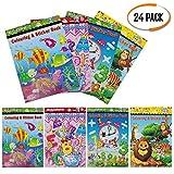24 Assorti Stickers Et Coloriage Livre | Activité Pour Les Enfants...