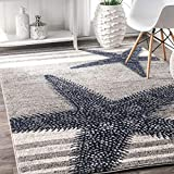 nuLOOM Thomas Paul Starfish Area Rug, 5' x 8', Grey