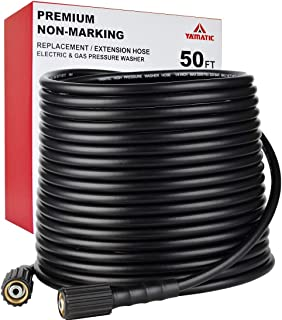 "YAMATIC Kink Resistant 3200 PSI 1/4"" 50 FT High Pressure Washer Hose Replacement.."