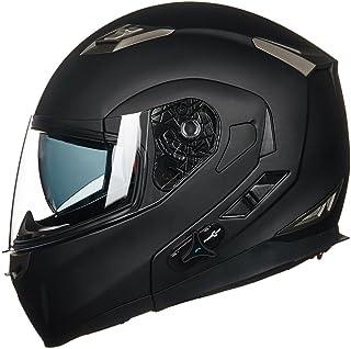 ILM Bluetooth Integrated Modular Flip up Full Face Motorcycle Helmet Sun Shield Mp3..