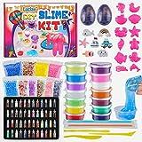 Luclay DIY Slime Kit per Fai da Te 12 Colori di Crystal Slime per Ragazze Ragazzi Giocattoli con 48 Glitter in Polvere, Slime Forniture per Bambini,...