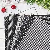 7 piezas de 50 * 50 cm tela de 100% Algodón utilizada para la decoración de costura artesanal...