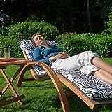 Ampel 24 Relax Liegestuhl Tropica Relaxliege mit Armlehnen Gartenmöbel aus vorbehandeltes Holz - 8