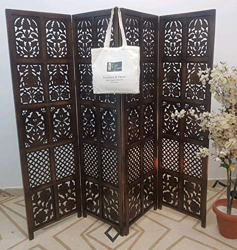 Onlineshoppee Wooden Room Divider/Wood Separator/Office Furniture/Wooden Partition