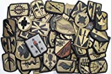 Lot of 50 Assorted U.S. Army Unit Insignia Military Patches - Subdued Hook-Back
