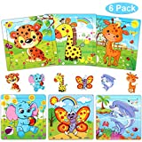 NARRIO Jigsaw Puzzles for Kids Ages 2-5 Year Old Girl Toys, Wooden Puzzles Toys for Toddlers 3-6 Year Old Girl Birthday Gift for 2 3 4 5 Year Old Boys Toys, Learning Toys for Girls Age 2-5 (6 Puzzles)