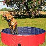 lionto by dibea Piscina plegable para perros bañera para perros piscina mascotas (M) Ø 130 cm