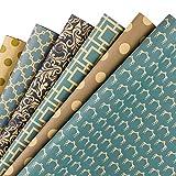 RUSPEPA Feuille De Papier D'Emballage Cadeau - Papier Kraft De Conception...