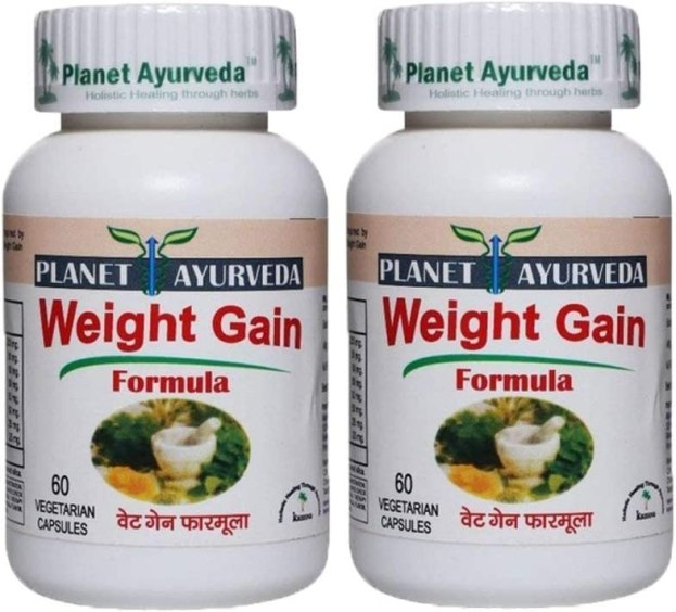 Amazon.com: Planet Ayurveda Weight Gain Formula, 500mg Veg Capsules - 2 Bottles - Nature's Answer for Fitness: Health & Personal Care