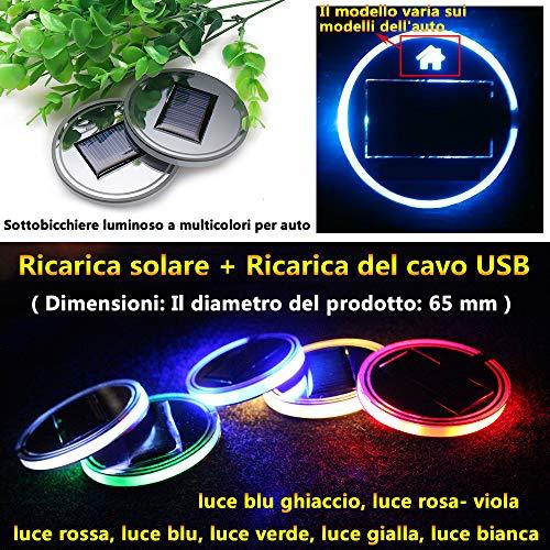(1 pezzo) Energia solare Luce dambiente Accessori per auto Decorazioni interni Illuminazione Luce...