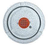 Scheurich Wave Globe Slim, Hochgefäß aus Kunststoff, Weiss-Granit, 39,5 cm Durchmesser, 80 cm hoch, 18 l Vol. - 5