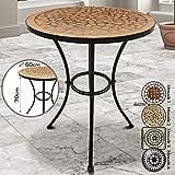 Jago Mosaiktisch rund oder eckig Stahl Mosaik