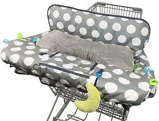 """Shopping Cart Cover for Baby with Pillow, Soft Velvet Bolster Positioner, 6.5"""".."""