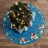 Bucilla 89076E Christmas Village Tree Skirt Felt Applique Kit