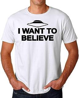 PasTomka I Want to Believe Black X Files Men's T-Shirt Hombre Camiseta