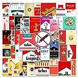 WOKAO Estuche de Cigarrillos de Marca Tide, Pegatinas Impermeables para Equipaje, Maleta, Motocicleta, portátil, Dibujos Animados, Pegatinas de Graffiti, 50 Uds.