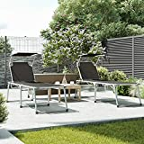 SONGMICS Sonnenliege Liegestuhl Gartenliege mit Sonnendach - 2