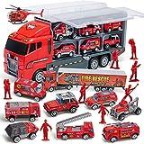 JOYIN 10 en 1 Moulé sous Pression Véhicule de Pompiers Mini Sauvetage Camion...