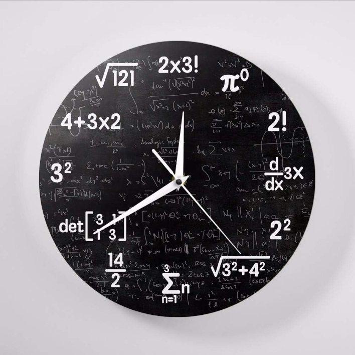 Kuletieas Ecuaciones matemáticas y símbolos matemáticas Pizarra Friki Reloj de Pared Regalos educativos para niños Maestros Escuela Aula decoración