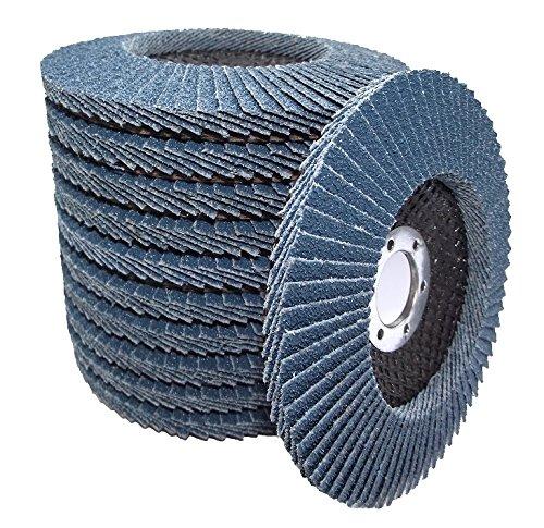Feroflex® Lot de 20 disques à lamelles de qualité professionnelle 125 mm Grain 40