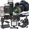 Canon EOS 6D 20.2 MP Full Frame CMOS Digital SLR DSLR Camera w/ EF 24-105mm f/4 L IS USM Lens + EF 75-300mm f/4-5.6 III Telephoto + 500mm f/8 Preset Lens + Holiday Accessory Bundle + More!