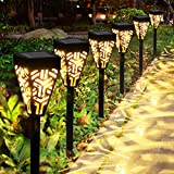 Lampes Solaires Jardin GolWof 6 Pièces Éclairage Solaire Extérieur Étanche Lumière Solaire Extérieure à LED Éclairage Solaire Jardin Décoration pour Allée Chemin Terrasse Pelouse Paysage Camping Fête