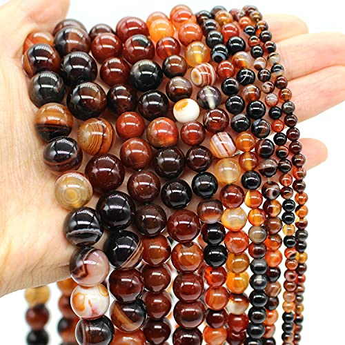 Oameusa 12mm Natural Brown Dream Agate Beads Round Beads...