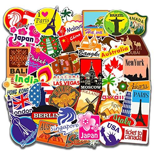 100PCS Rétro Vintage Stickers, Street Autocollants, Autocollants Vinyle...