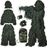 PELLOR Ghillie Suit Tenue Camouflage 3D avec Ruban Camouflage Auto Adhesif Filet...