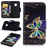 Moto G5 Plus Case, UZER Painted Pattern Shockproof [Kickstand Feature] Premium PU Leather Folio Flip Wallet Case with Cash/Card Slots and Magnetic Clasp Case for Moto G5 Plus 2017 Model