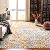 Safavieh Madison Collection MAD608K Cream and Orange Bohemian Chic Distressed Area Rug (5'1' x 7'6')