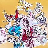 LZWNB Creativo Lindo Hecho a sí Mismo Belleza Antigua niñas álbum de Recortes Pegatinas Decorativas DIY artesanía álbumes de Fotos Pegatinas 25 Piezas