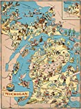 ✅500 Piece jigsaw puzzle state of MICHIGAN wooden cartoon map, Finished size (20.5 * 15 Inches), After the patchwork is completed, it is a very creative Map decoration. ✅GEOGRAPHY MADE FUN: A unique, Fun and exciting puzzle toy to help children learn...