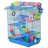 Pawhut Cage pour Hamster Souris Petit Animaux Rongeur avec Tunnel...
