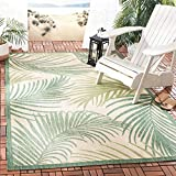 Safavieh Courtyard Collection CYH7557-32212 Tropical Indoor and Outdoor Area Rug, 5' 3' x 7' 6', Beige/Green