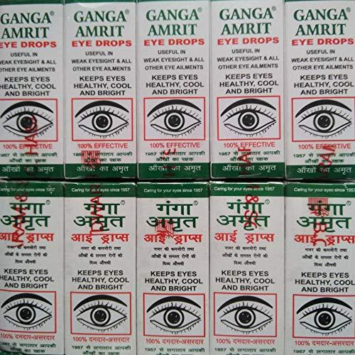 AYURVEDIC Ganga Amrit Eye Drop (25 ml)-Set of 10 Pieces, Multi