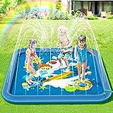 Peradix Tapis de Jet d'eau,170cm Enfant Tapis de Pulvérisation d'eau...